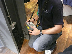 KB Electrical Ltd performing a test procedure